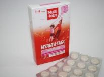 Vitamine Multi-tabs per un bambino in 2 anni