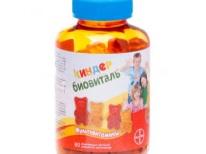 Kinder Biovital - vitamin untuk kanak-kanak dalam 1 tahun