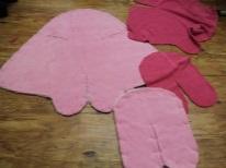 Sartoria pannolino-bozzolo su stickies per i neonati con le proprie mani