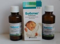 Bobotik مع مغص لحديثي الولادة