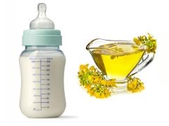 Is koolzaadolie schadelijk voor babyvoeding?
