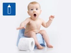อาการท้องผูกในเด็กที่มีการให้อาหารเทียมหรือผสม