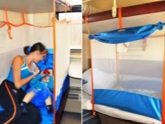 Arena in de trein voor het kind