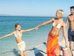 Rehat dengan kanak-kanak di Crimea