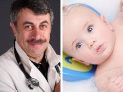 Dr Komarovsky mengenai mandi bayi baru lahir