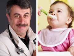 Dr. Komarovsky mengenai menu kanak-kanak pada 10-12 bulan