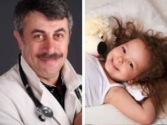 الدكتور كوماروفسكي حول كيفية تعليم الطفل على النوم في سريره