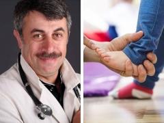 ดร. Komarovsky กับความผิดปกติของเท้า valgus และตรงแนว