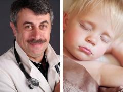 Dr. Komarovsky: waarom knalt een kind zijn tanden in een droom?