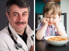 เคล็ดลับของแพทย์ Komarovsky เกี่ยวกับสิ่งที่ต้องทำหากเด็กมีความอยากอาหารไม่ดี