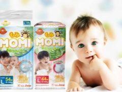 Pannolini Momi: caratteristiche e caratteristiche dei prodotti