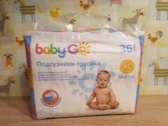 Tipi e caratteristiche dei pannolini Baby Go