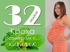 Apakah yang berlaku kepada janin dan ibu masa depan pada 32 minggu kehamilan?
