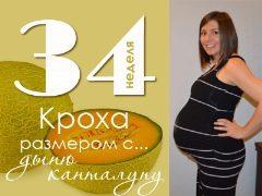 Berat dan parameter lain janin pada usia 34 minggu