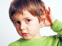 Mendengar kanak-kanak yang cacat: pendidikan, alat bantuan pendengaran dan pemulihan