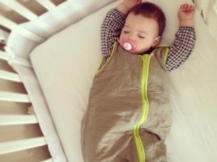 Zipper slaapzak voor pasgeborenen met hun eigen handen