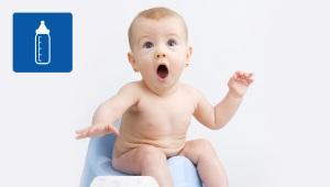 Constipatie bij een kind met kunstmatige of gemengde voeding