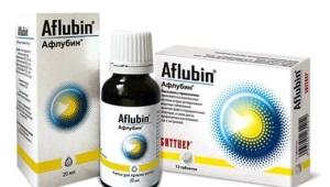 قطرات Aflubin للأطفال: تعليمات للاستخدام