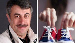 Dr. Komarovsky over hoe de eerste schoenen voor de baby te kiezen