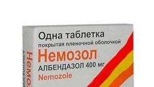 أقراص Nemozol للأطفال: تعليمات للاستخدام