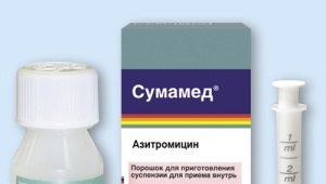 تطبيق Sumamed في الأطفال الذين يعانون من الذبحة الصدرية