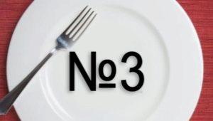 דיאט לוח מס '3 מ' א 'פבזנר - תפריט לשבוע לילדים