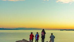 Rust met het meer van het Baikalmeer