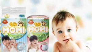 Luiers Momi: kenmerken en kenmerken van producten