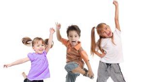 Dansoefeningen voor kinderen