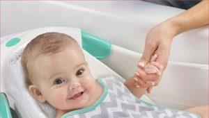 สไลด์สำหรับอาบน้ำทารกแรกเกิด: ประเภทและเคล็ดลับในการเลือก