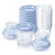 Contenedores de almacenamiento de leche materna