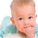 Cisti sulla gomma in un bambino