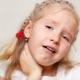 Gola bianca in un bambino