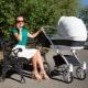 Model berjalan kaki kerusi roda untuk bayi yang baru lahir