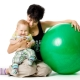 Exercise on fitball for babies