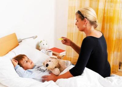 Diminuzione della temperatura al bambino