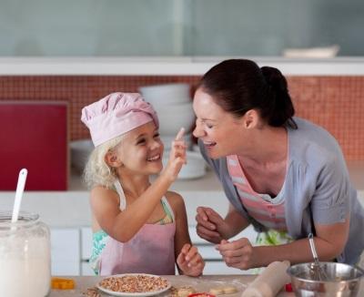Koken en een menu maken met een kind
