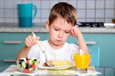 De student heeft geen eetlust