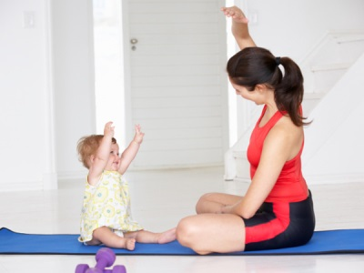 Gymnastique avec votre enfant