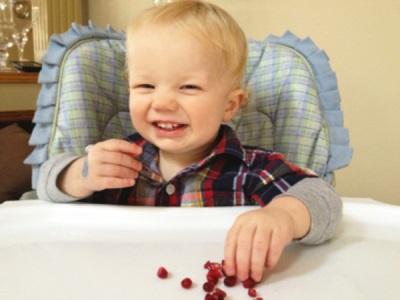 Bayi makan delima