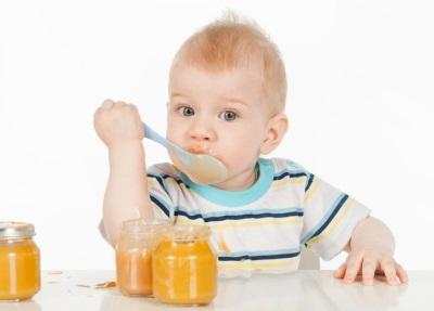 Puree labu makan bayi