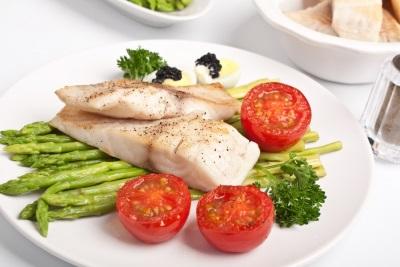 ปลากับผัก