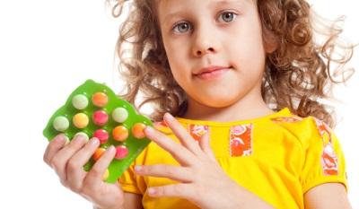 Vitamine per la terapia dell'occhio per i bambini