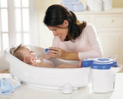La prima volta che faccio il bagno a un bambino