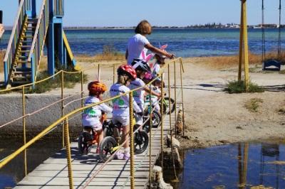 Runbike op zee