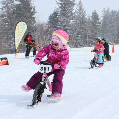 Runbike met ski's