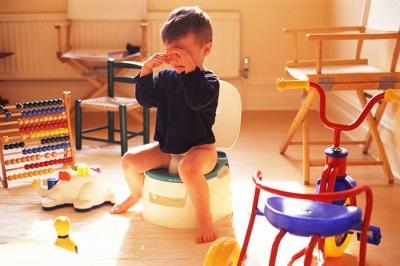 Methode om een kind in de pot te leren