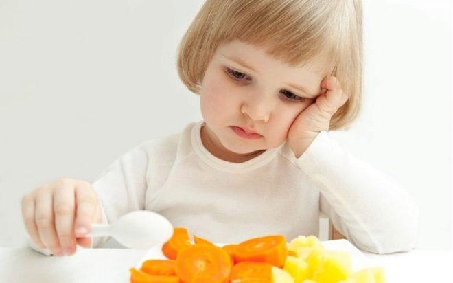 ไม่มีความอยากอาหารสำหรับเด็ก 2 ปี
