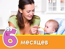 Bayi menu pada 6 bulan