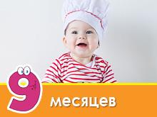 Menu do bebê aos 9 meses